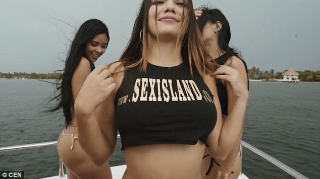 Bold: In case the ad's purpose wasn't clear, a woman reasserts the sell on a T-shirt