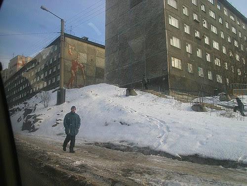 Conjuntos habitacionas de Murmask da era soviética