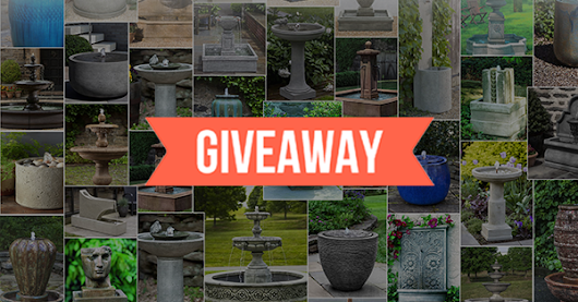 ⛲ We're giving away a GARDEN FOUNTAIN for FREE! Enter the giveaway now for your chance to win.⛲