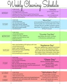 Free Printables & a Titus 2sday Link-Up Party | Daily cleaning ...