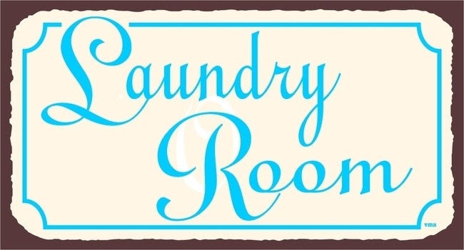 Laundry Room Vintage Metal Art Wall Decor Retro by vintagemetalart