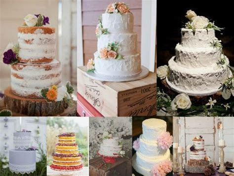 Vintage Style Wedding Cakes   Rustic Wedding Chic