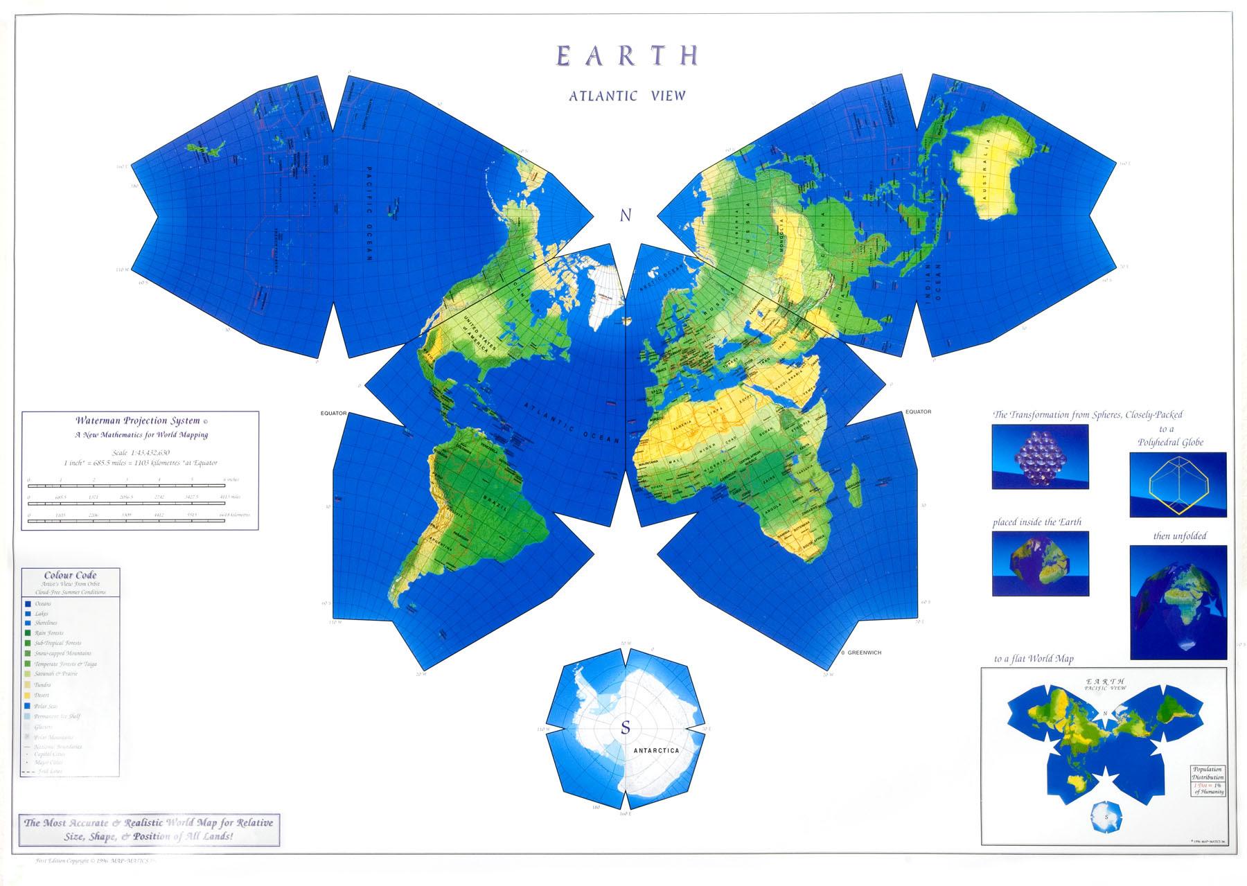 Watermanova projekcija karte Svijeta