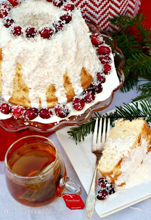 Chiffon Cake with Sugared Cranberries | The Foodie Affair
