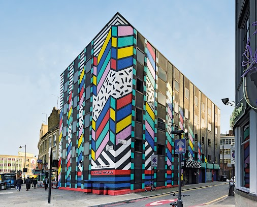 Colouring in the city: mural painter #CamilleWalala is taking over Oldstreet, London. http://ow.ly/NBgU3014O8N...