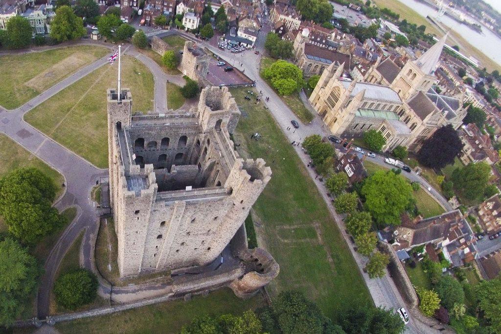 Rochester castle Dronestagram