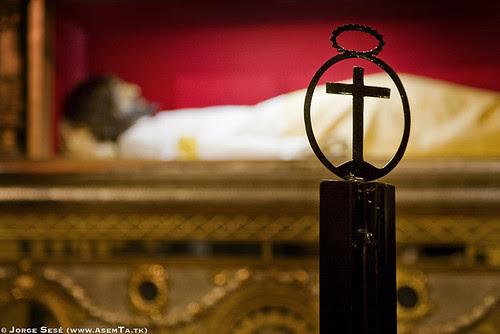 Imagen del Cristo de la Cama en su capilla del Santo Sepulcro