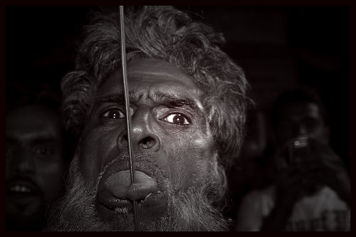 Shahenshah Baba Pierces His Tongue With A Rod by firoze shakir photographerno1