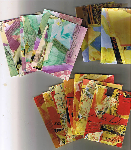 Collaged ATC Backgrounds