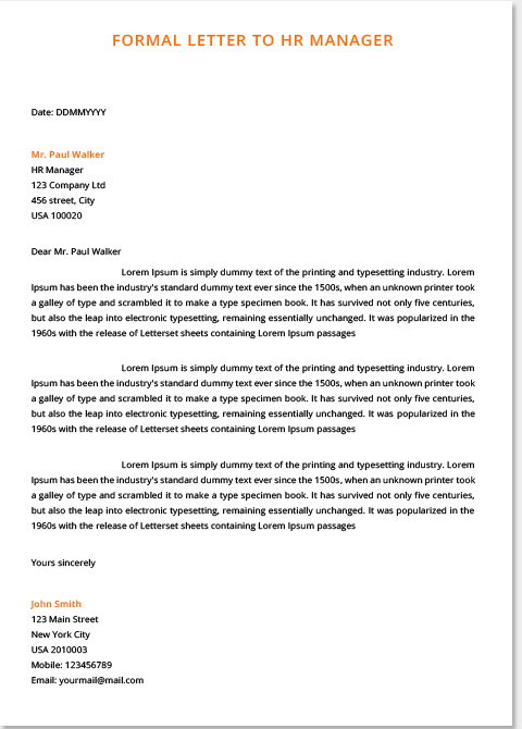 Formal Letters Examples For Students  Top Form Templates  Free Templates Download