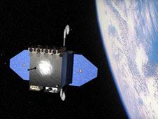 image of the SDO satellite orbiting Earth