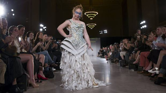 Down syndrome model dazzles