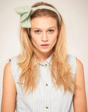 Image 1 ofASOS Mint Knot Headband