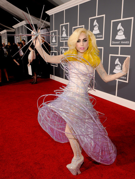lady-gaga-red-carpet-grammy-awards.JPG LARRY BUSACCA/GETTY IMAGES FOR