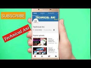 Technical Ani intro Video