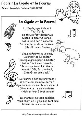 Coloriage Educatif Les Fables De La Fontainefable De La Fontaine