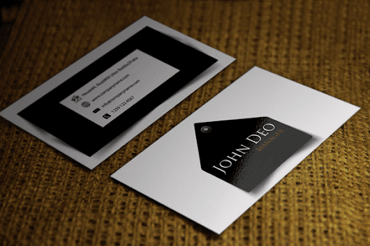 Free business card templates Download 1 Black and White