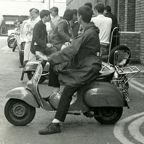 Mods on scooters in London, 1979 by Paul Wright's Photo File