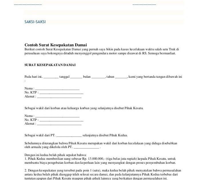 Contoh Surat Pernyataan Salah Surat Kk