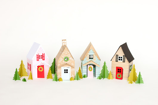 Paper Holiday Houses - free templates! - delia creates