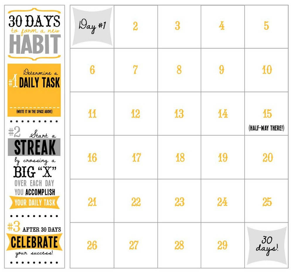 Monthly Weight Loss Calendar 2019 - Kerja Kerja i
