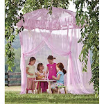 Sparkling Lights Lighted Canopy Bower - Pink