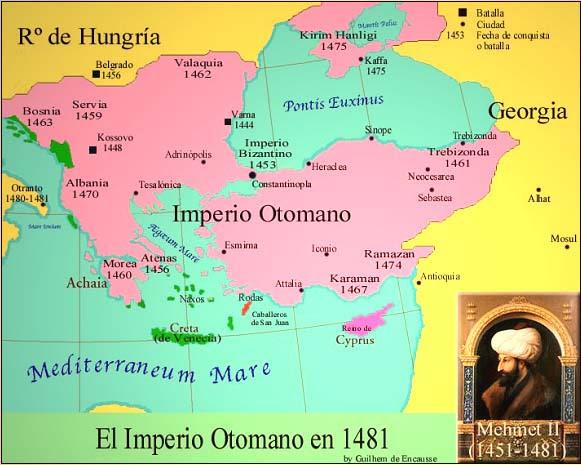 Resultado de imagen de map Mehmed II