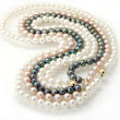 Akoya Pearl Jewelry Necklace Earrings Black Akoya Pearls