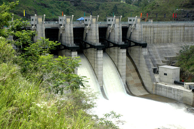 Three sluice gates opened at Kotmale dam