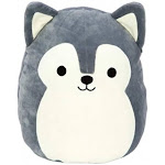 Squishmallows Ryan The Husky Dog Plush 20cm Grey and White