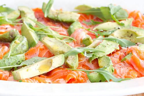 Mari-Liisi lõhe-avokaadosalat / Salmon and avocado salad