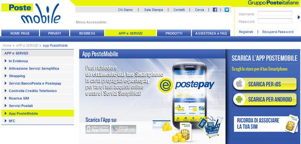 App 160 PosteMobile