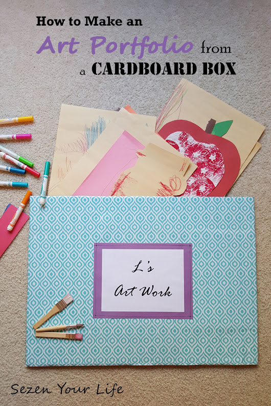 How to Make an Art Portfolio from a Cardboard Box | Sezen