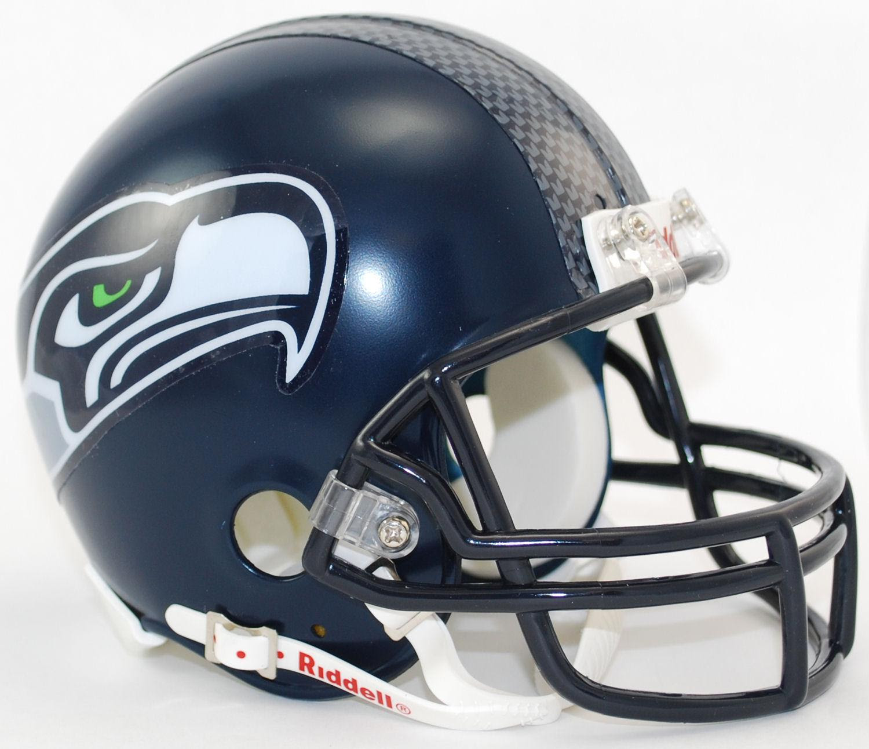 Seattle Seahawks Nfl Mini Football Helmet Matte Navy