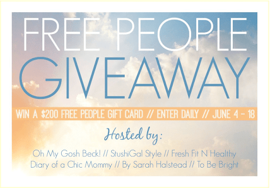 #Giveaway: Enter To #Win $200 Free People Giveaway - Jenns Blah Blah Blog - Family, Fun, Food, Giveaways & More!