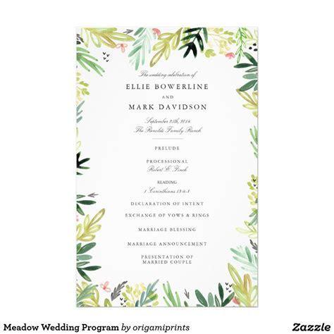 Meadow Wedding Program   Zazzle.com   { Wedding