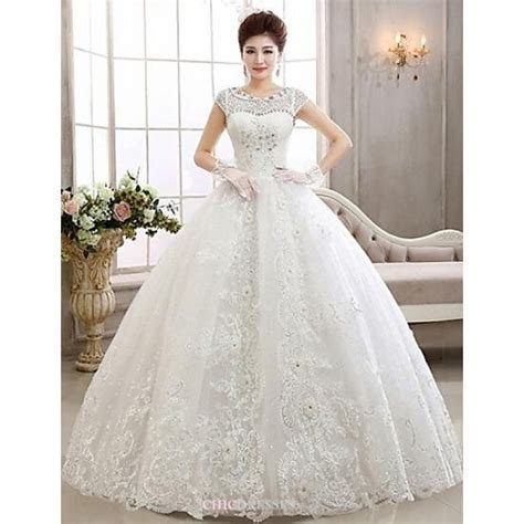 Ball Gown Ankle length Wedding Dress  Bateau Lace,Cheap Uk