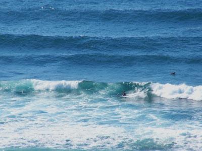 Sesión de surf del 5 de Julio del 2007 en Sopelana, olas de metro y medio potentes