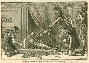 The Praetorians hailing Claudi... Digital ID: 1624733. New York Public Library