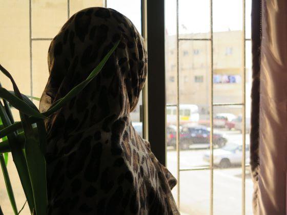 Refugiada siria en la Clínica de Mádaba (Jordania), donde recibe atención psicológica para superar la violencia de género.
