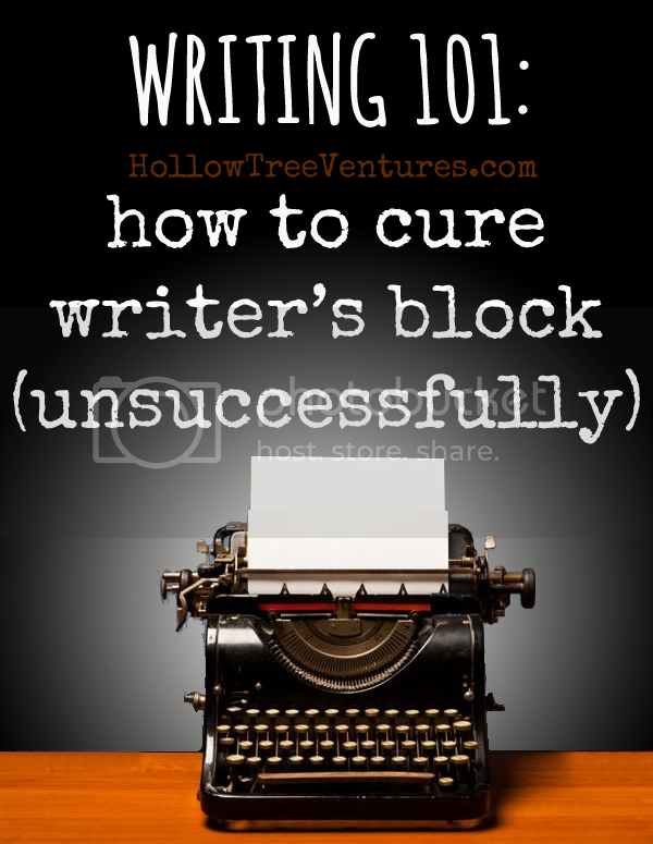 how to cure writer's block by Robyn Welling @RobynHTV