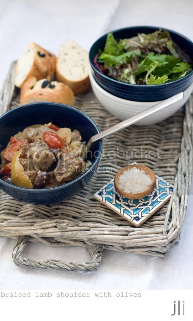 braised lamb shoulder with olives and lemon
