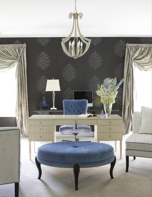 (via Glamorous home office - eclectic - home office - other metro - Cynthia Mason Interiors)