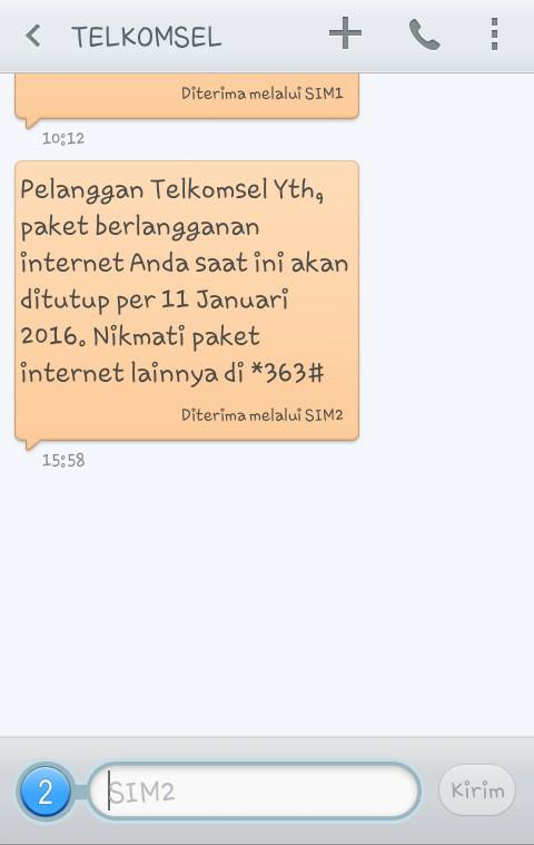 Paket Internet Telkomsel Murah November 2016