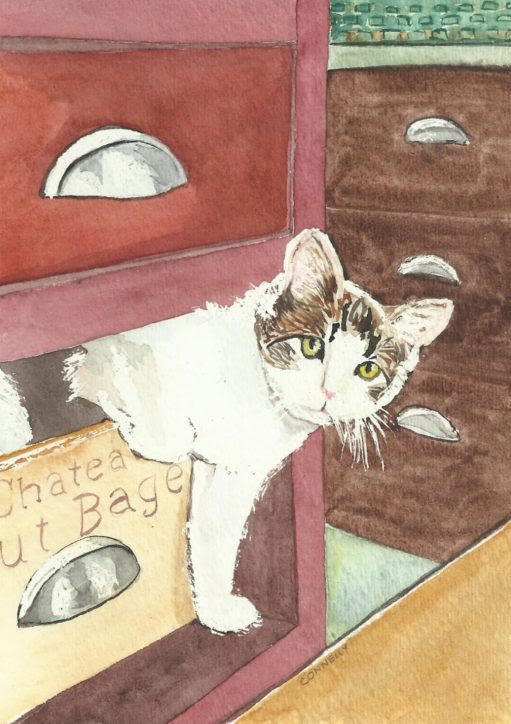 Cats Painted In Watercolor Day 23 September 2017 -