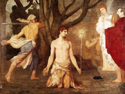 Puvis de Chavannes, Beheading of St John the Baptist (1869)