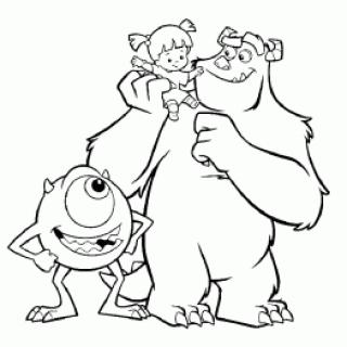 Personajes De Monster Inc Para Colorear Archives Ideas Consejos