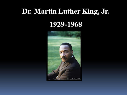 Martin Luther King - A Presentation for KS1/2