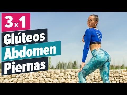 Entrenamiento fácil en casa para endurecer glúteos, abdomen y piernas