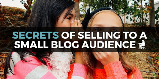 5 Secrets of Selling to a Small Blog Audience